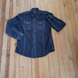 Points zero  semi fit men's Button down shirt Size